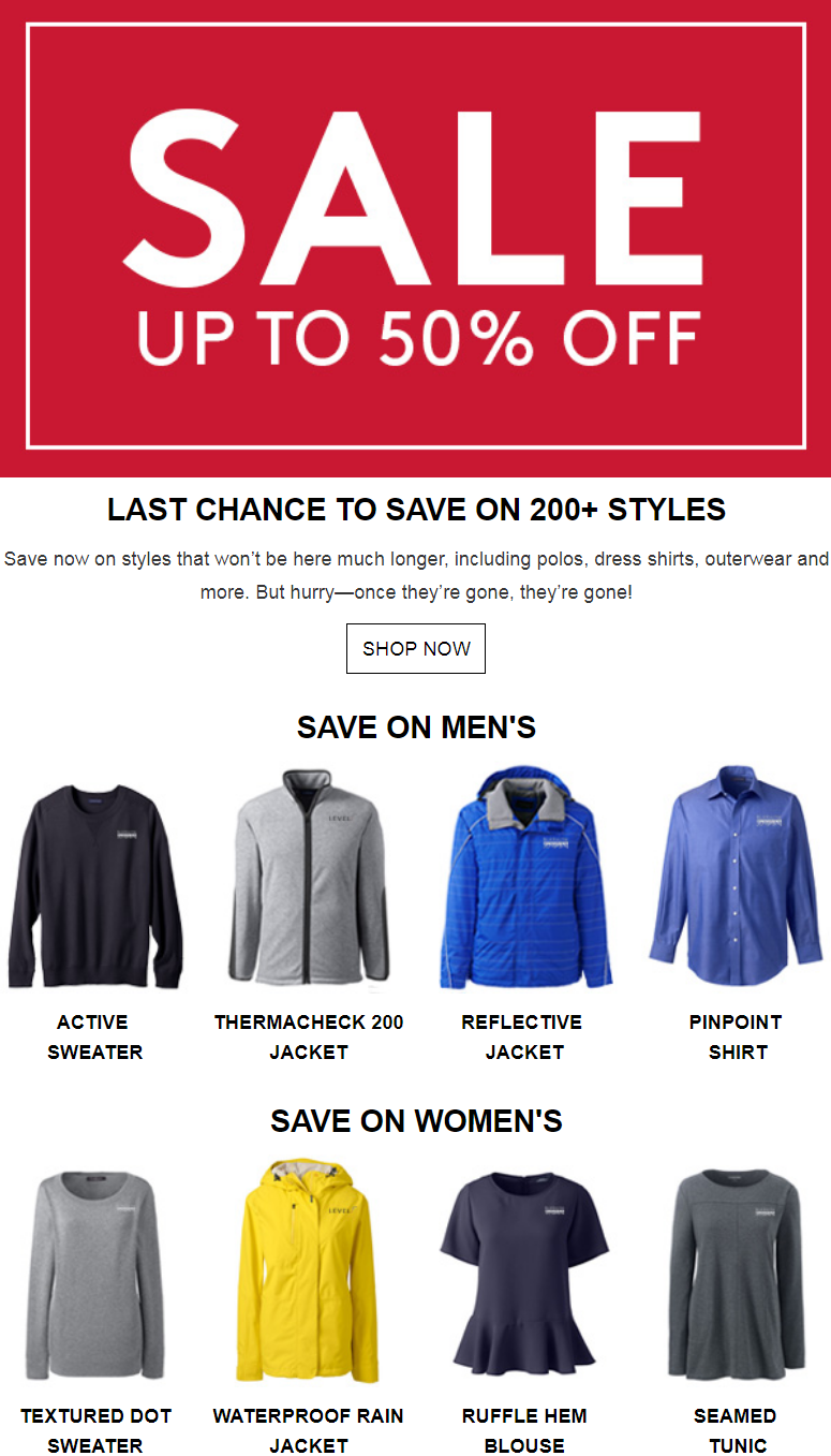 Save now on styles that won't be here much longer, including polos, dress shirts, outerwear and mo...