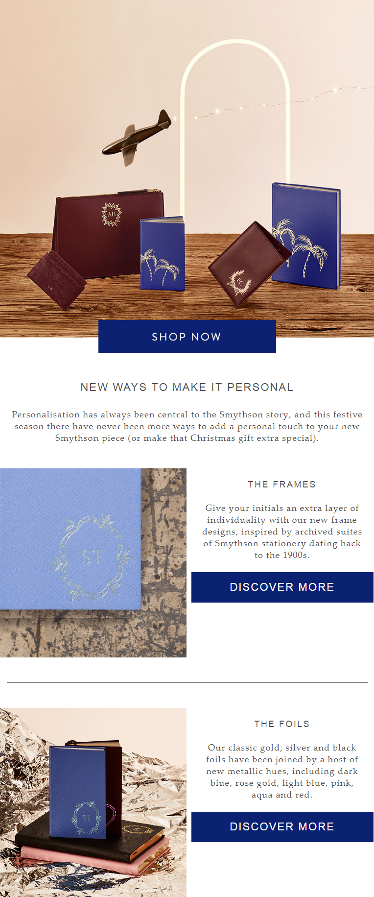 Personalisation has always been central to the Smythson story, and this festive season there have ne...