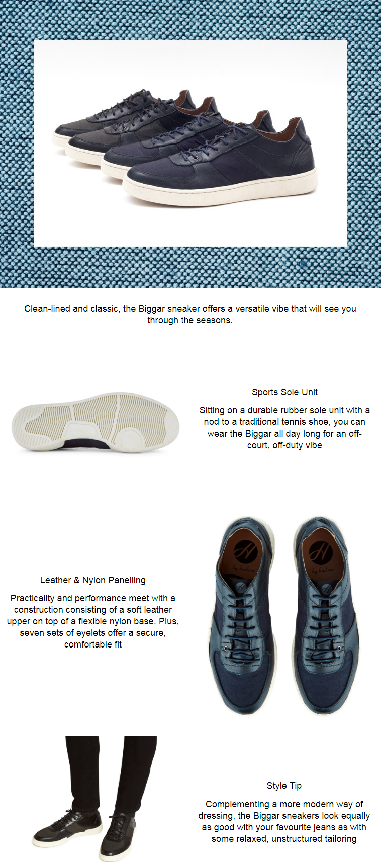 The Biggar sneaker pairs practicality and performance with modern-day design. A supple leather upper...