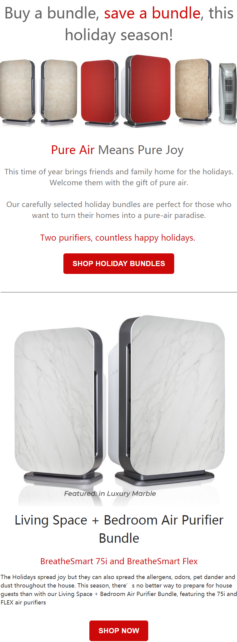 This time of year brings friends and family home for the holidays. Welcome them with the gift of pur...