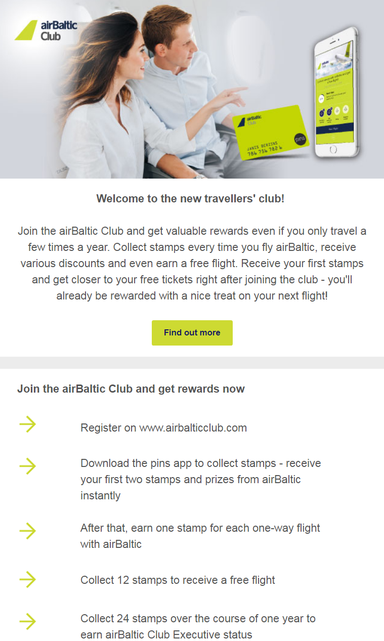 Join the airBaltic club and get valuable rewards even if you only fly a few times a year.