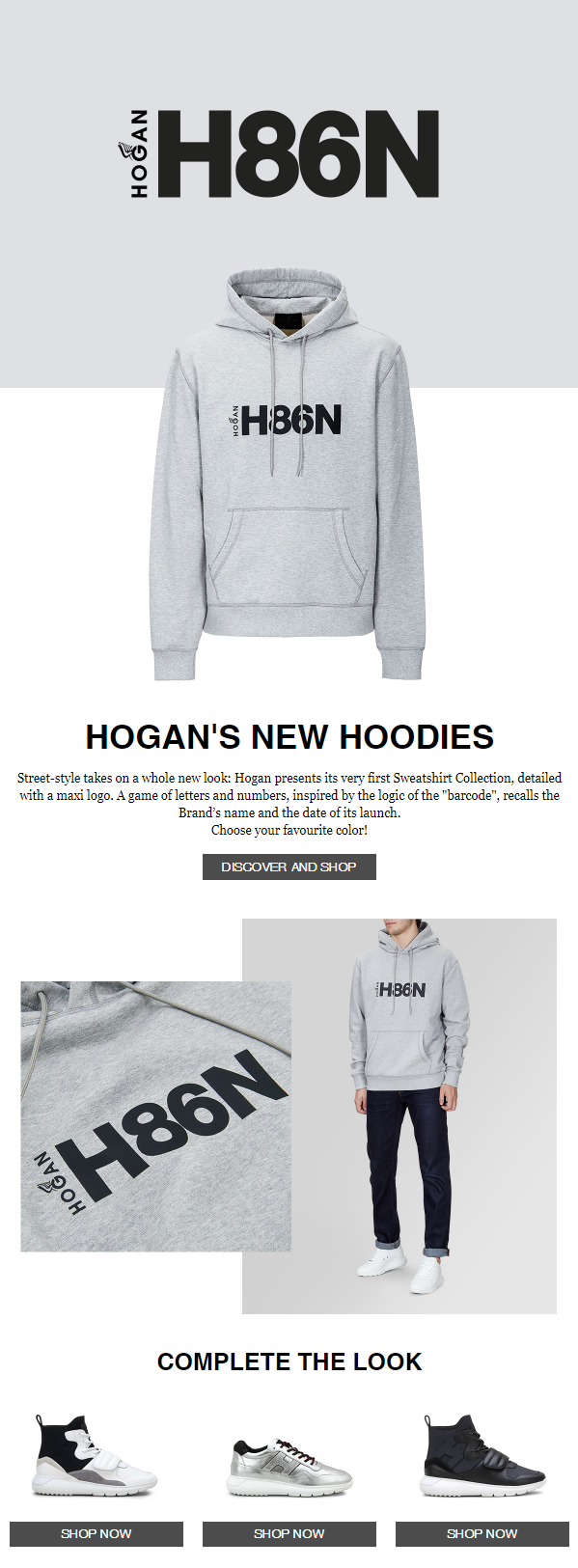 Street-style takes on a whole new look: Hogan presents its very first Sweatshirt Collection, detaile...