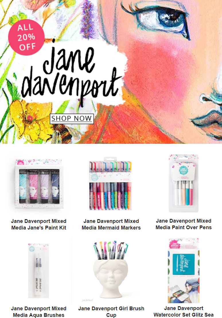 Jane Davenport is just what you need to let your creativity blossom. Every item in this collection i...