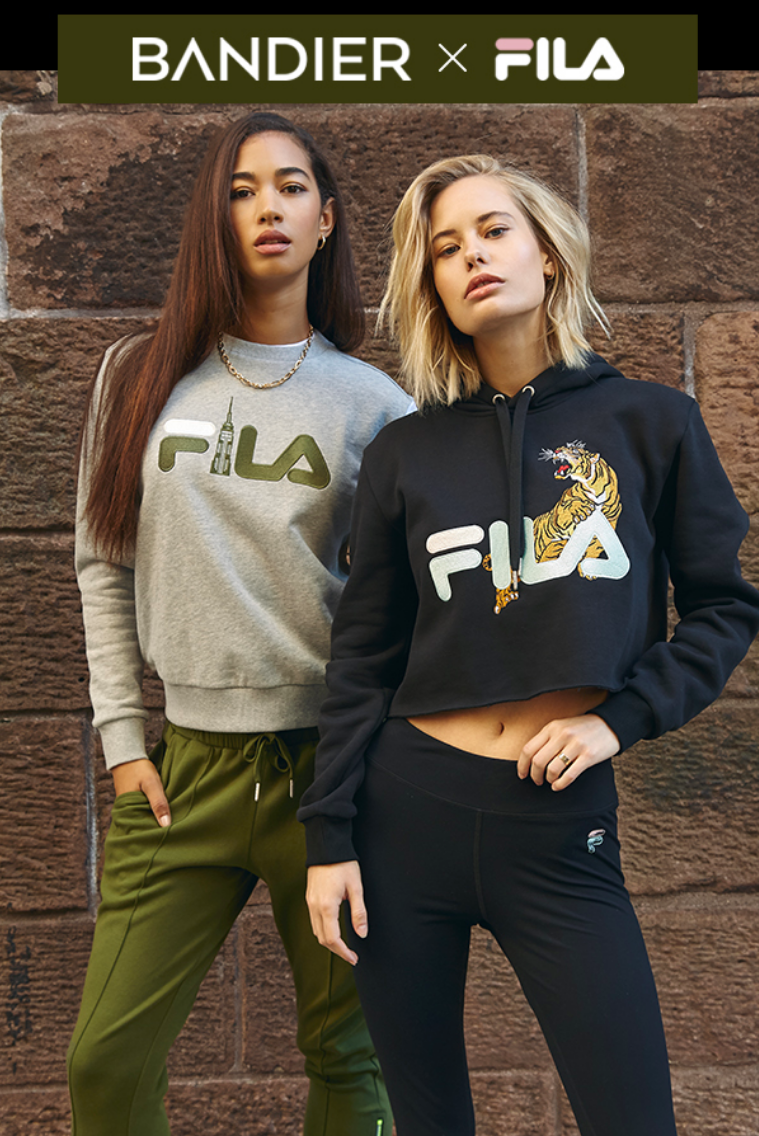 The limited-edition collaboration features three distinct capsules that each uniquely celebrate Fila...