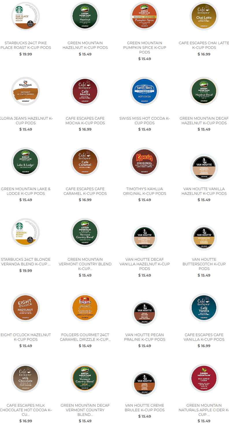 Featuring delectable Autumn flavors like Green Mountain Pumpkin Spice, to Cafe Escapes Chai Latte, t...