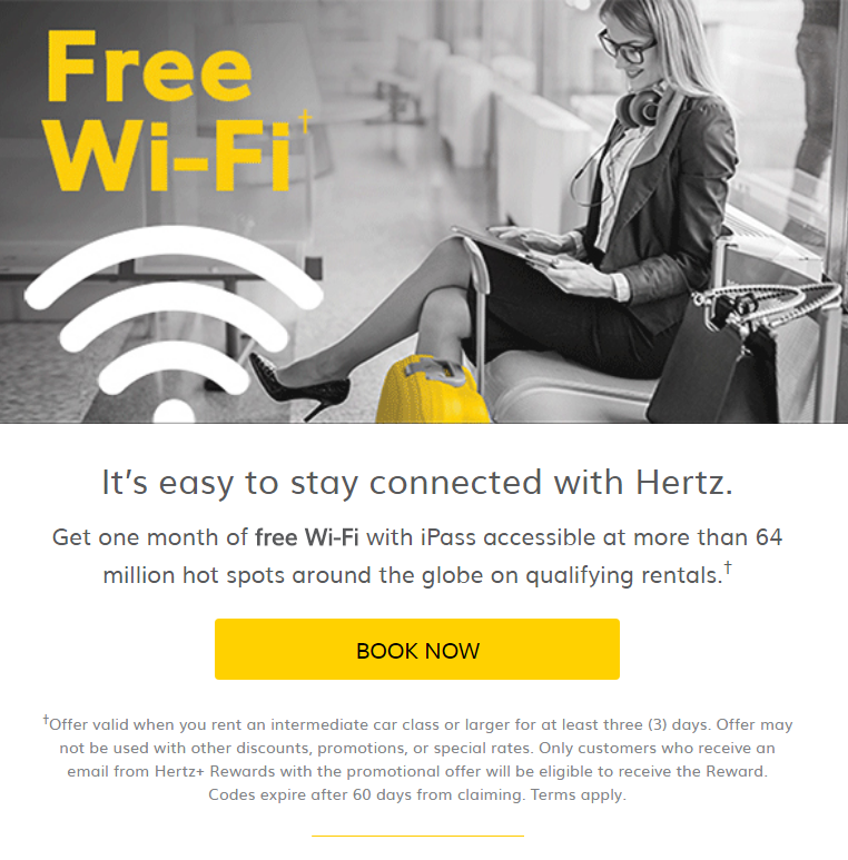 Free Wi-Fi with iPass for 1 month redeemable at more than 64 million hotspots around the globe when ...