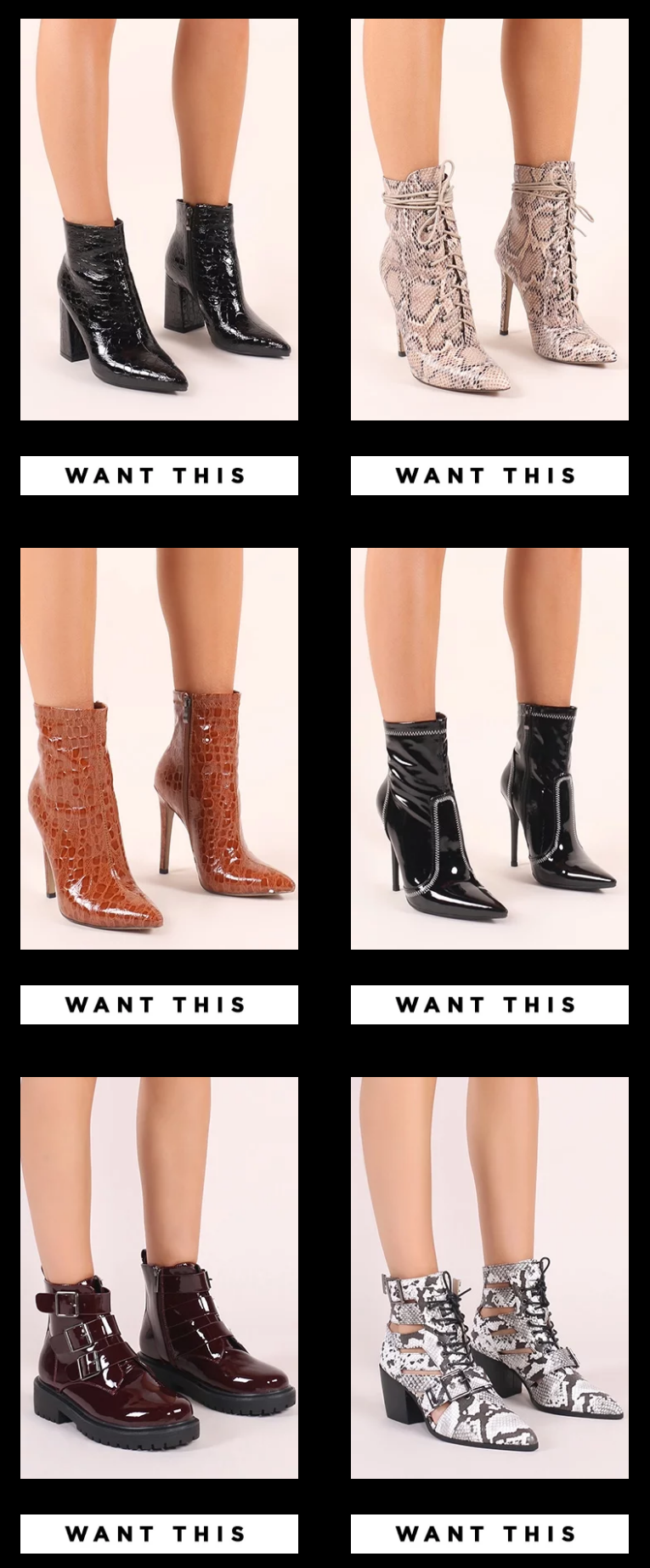 Everybody shake your boot-ies. Take boots to a whole new level in the evening with stiletto and peep...