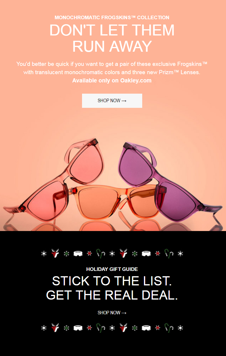 The Monochromatic Frogskins® Collection gives the iconicFrogskinsa new skin. Shades of rose fused w...