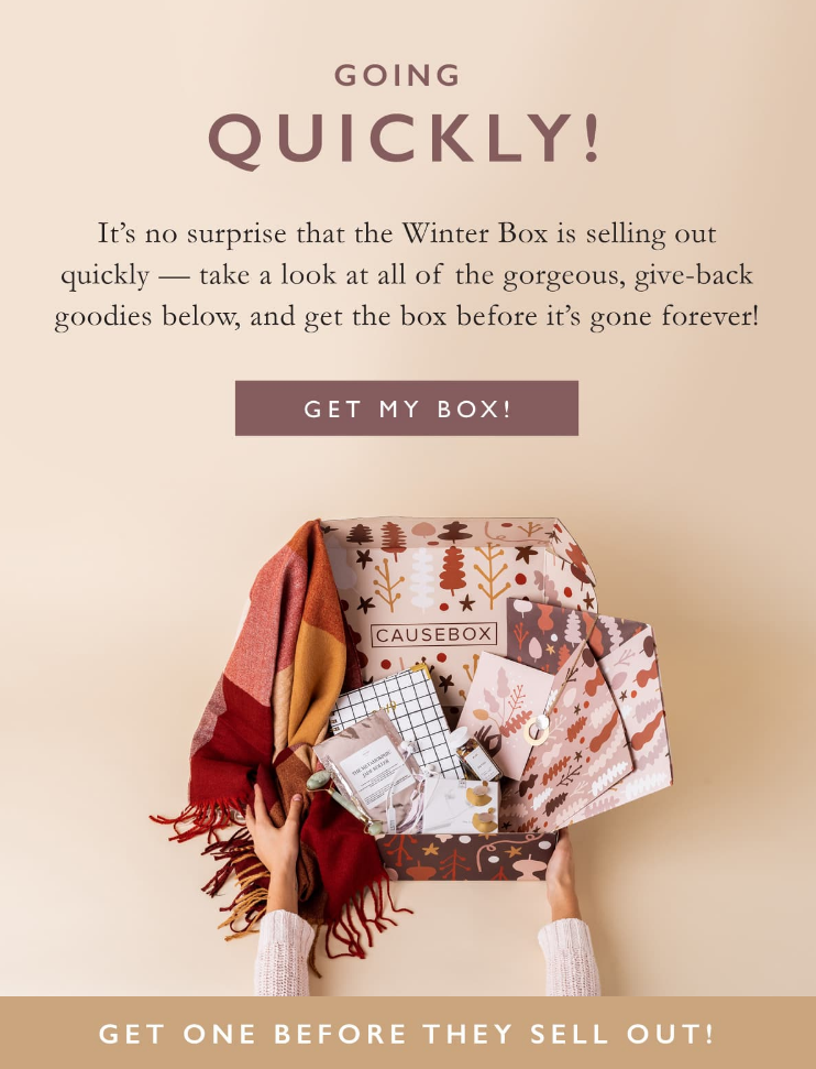 Take a look at all of the gorgeous, give-back goodies, and get the box before it's gone forever!
