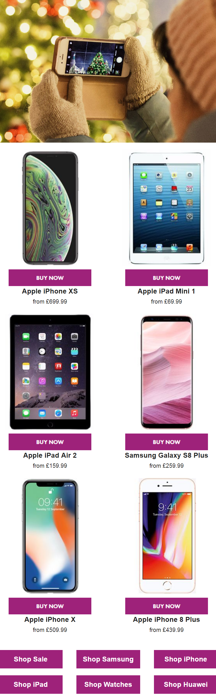 Shop the latest and best gadgets including iPhones, Samsungs, iPads at the lowest prices, receive th...