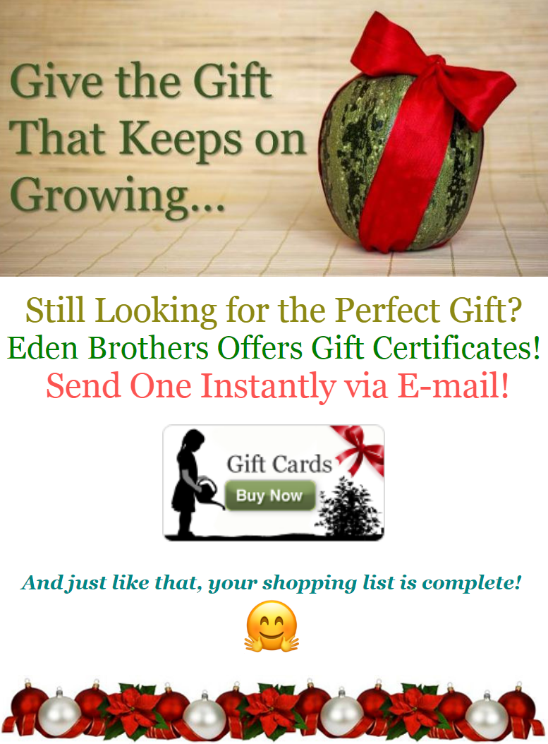 For an easy gift sure to please all gardeners in your life, just pick one of the gift certificates.