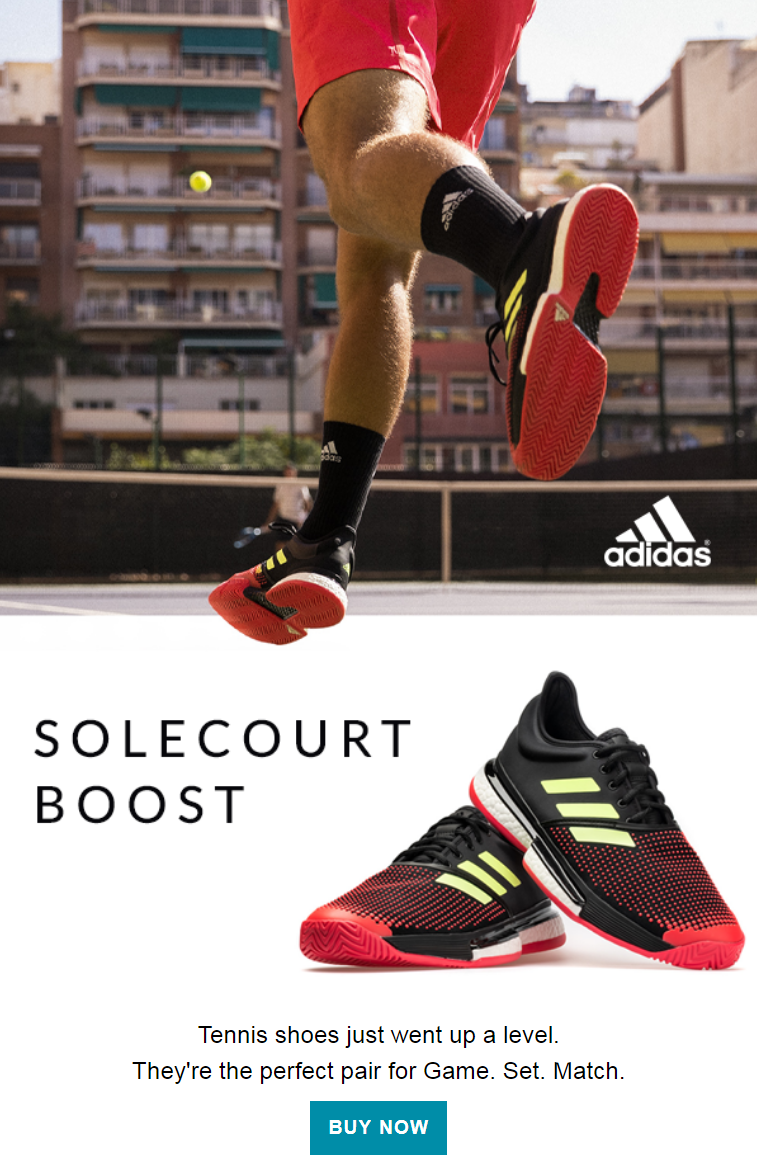 The adidas SoleCourt Boost tennis shoe was designed with the elite player in mind. Featuring Boost t...