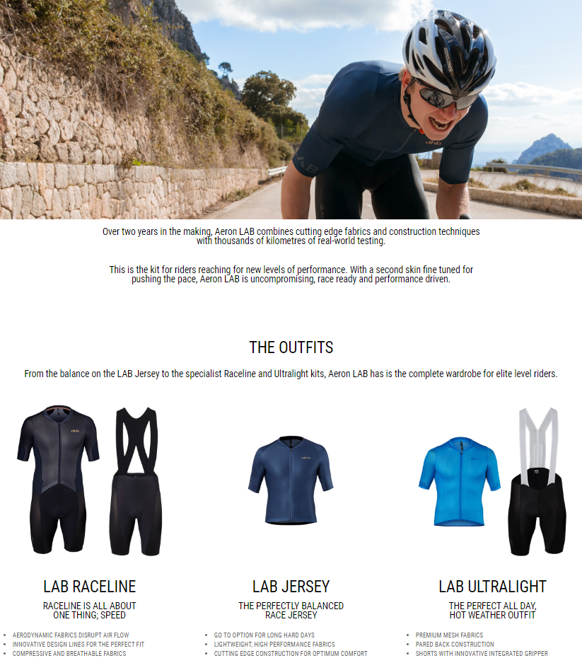 This is the kit for riders reaching for new levels of performance. With a second skin fine tuned for...