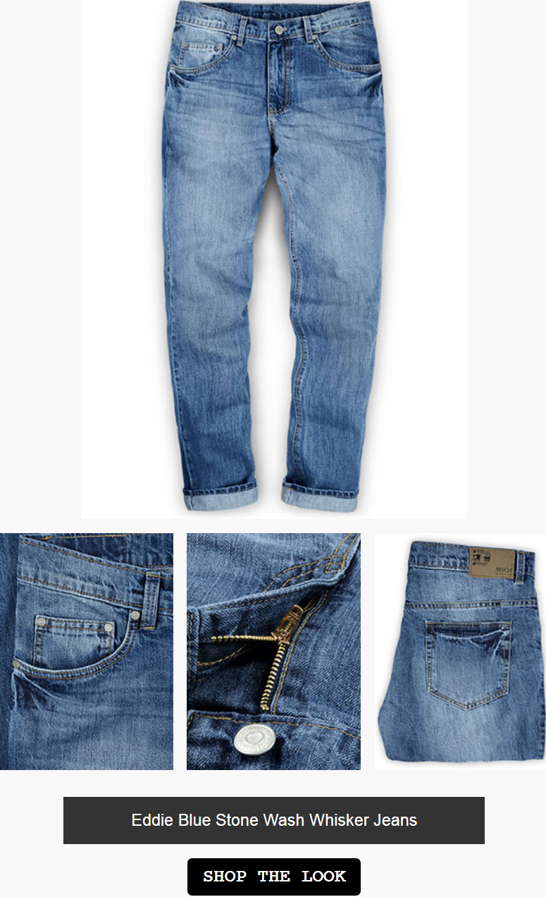 Each piece is individually cut from rolls of denim fabric and stitched accordingly. Stone Washed at ...