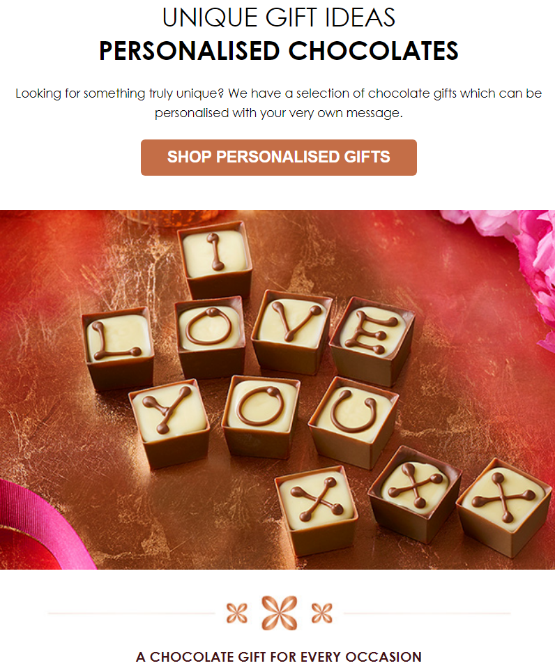 Looking for something truly unique? There are a selection of chocolate gifts which can be personalis...