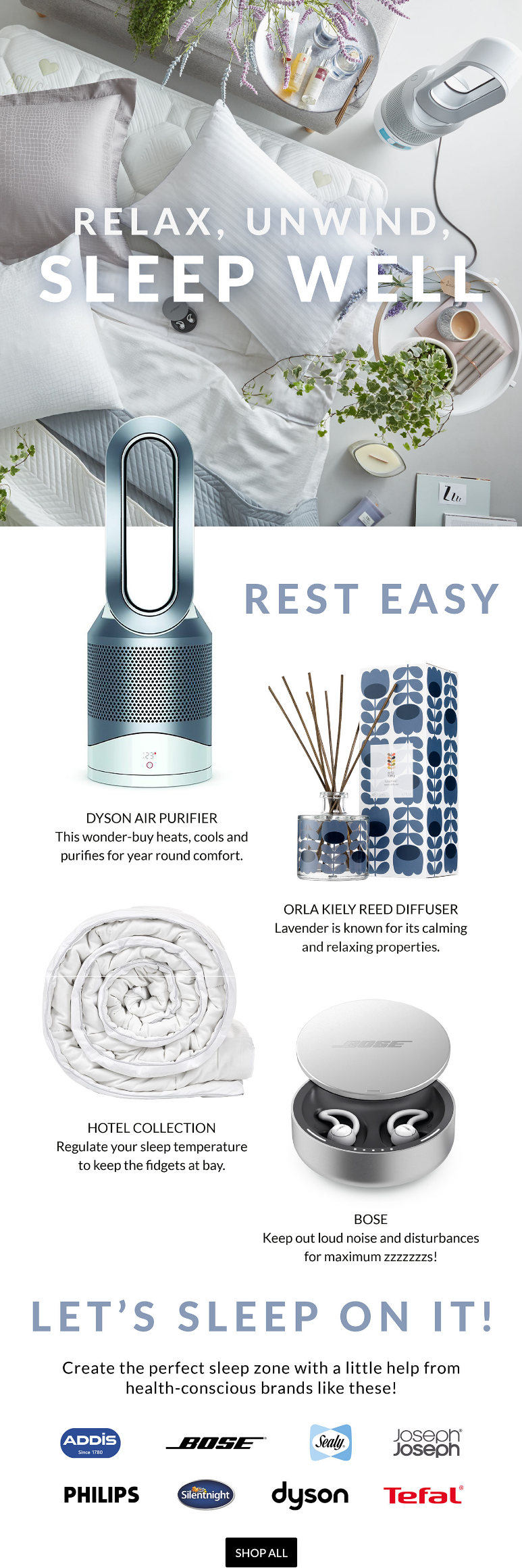 Create the perfect sleep zone with a little help from health-conscious brands like these!