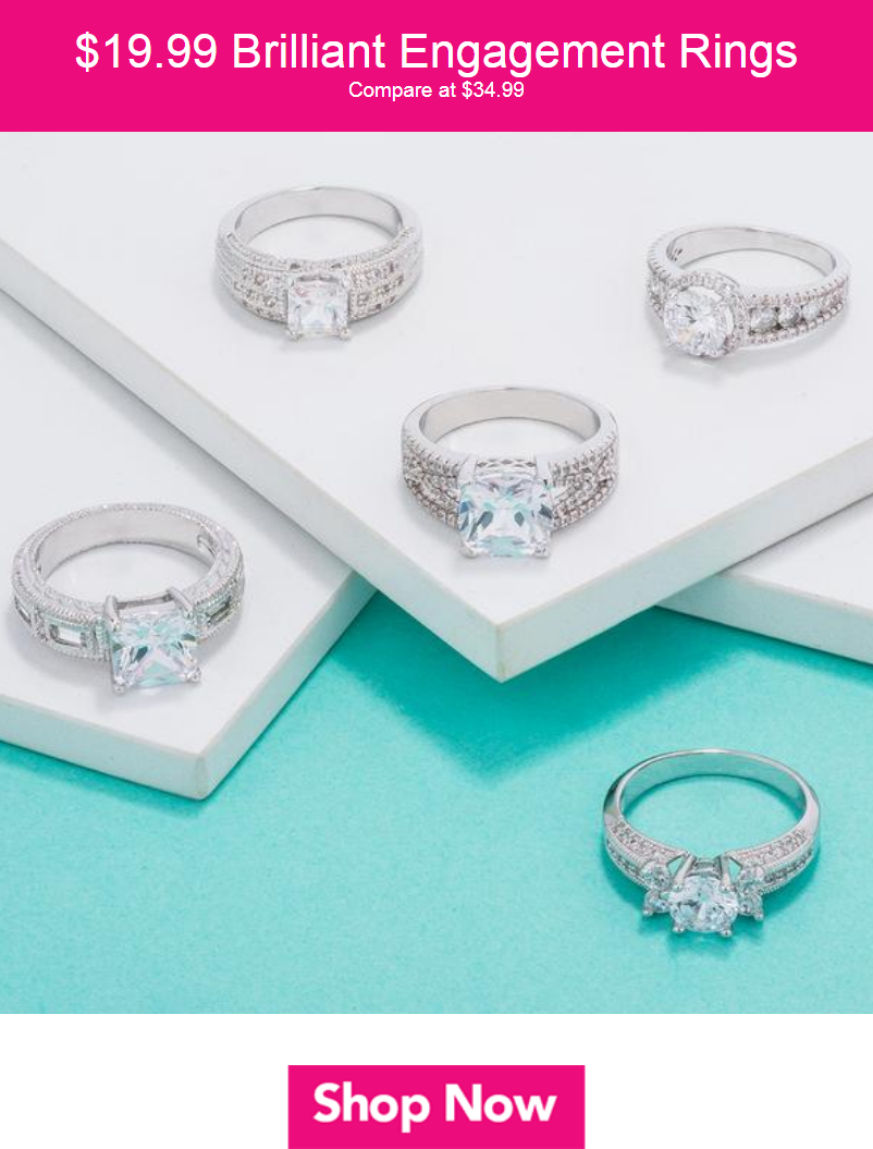 Fashioned with gorgeous center stones and sparkling accents, these engagement rings are royally exqu...