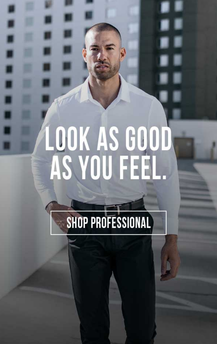 Looking good has never been this comfortable. The professional line of pants and dress shirts bring ...