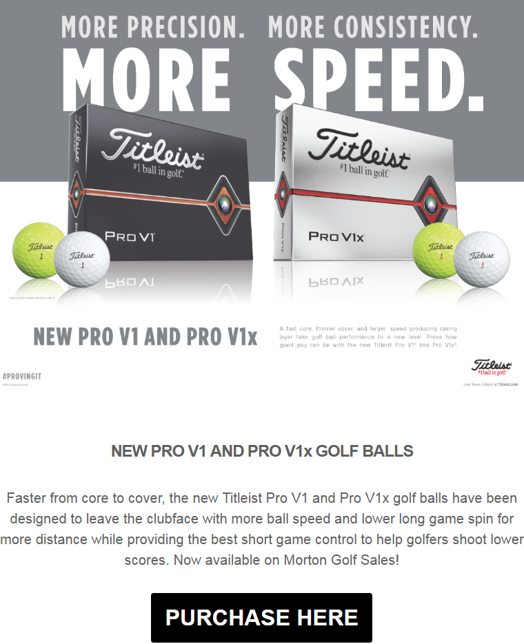 Faster from core to cover, the new Titleist Pro V1 and Pro V1x golf balls have been designed to leav...