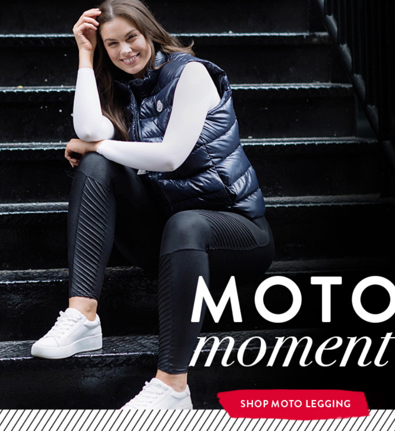 Moto is your new go-to. Complete with hidden shaping, you can rely on the black Moto leggings to kee...