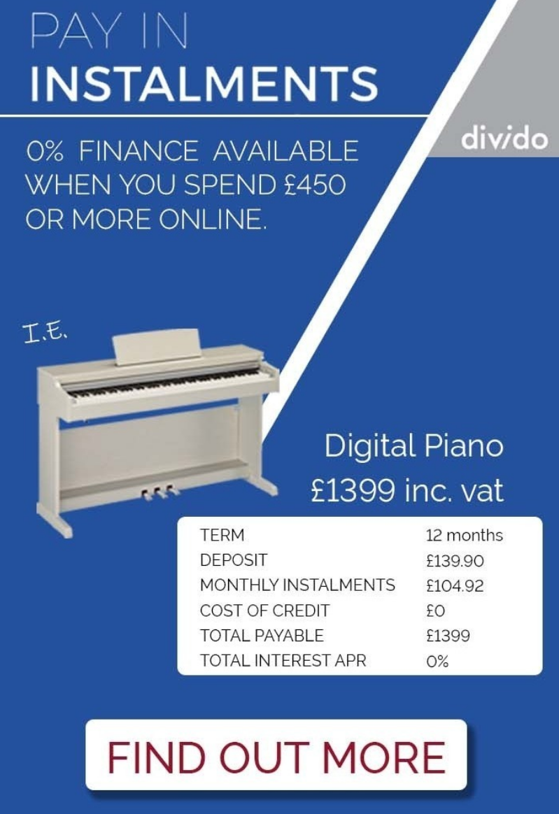 Normans Musical Instruments are now able to offer you interest free finance on orders over £450, me...