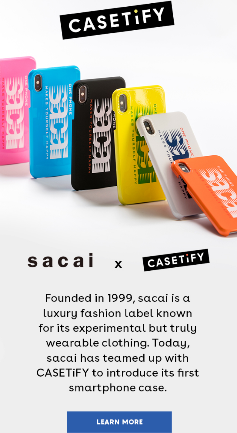 Founded in 1999 by Chitose Abe, sacai is a luxury fashion label from Japan. Known for innovative and...