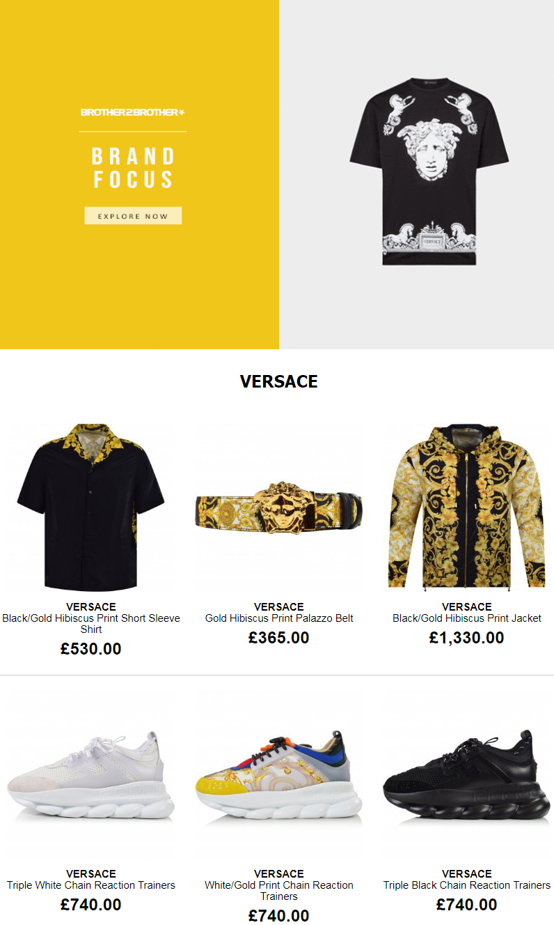 Get your new style in the fashion from the latest and greatest Versace items. Go and enjoy yourself.