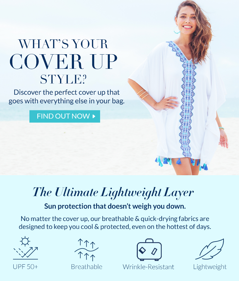 Discover the perfect cover up that goes with everything else in your bag.