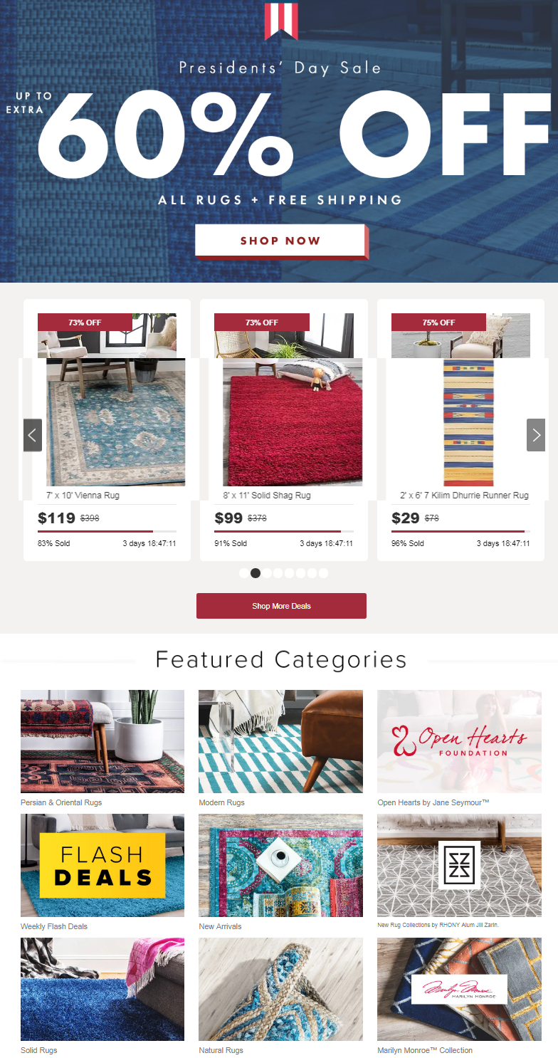 Save now on rugs that won't be here much longer. It's a great time to stock up before they are gon...
