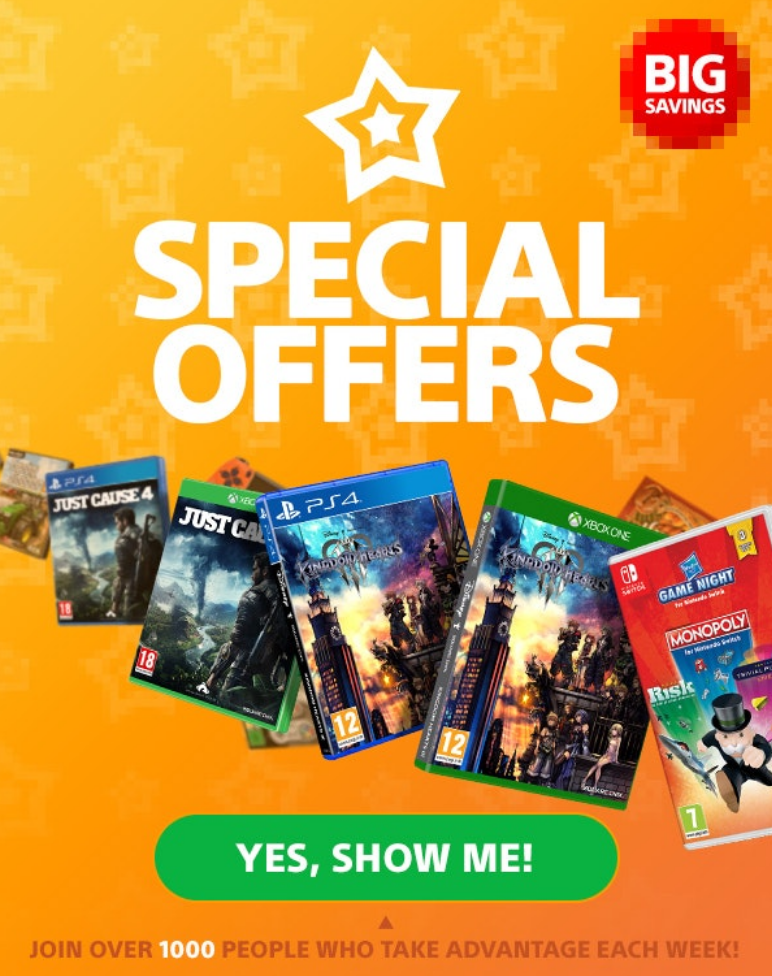 Weekly special offers on gaming, board games, movies, toys and more!