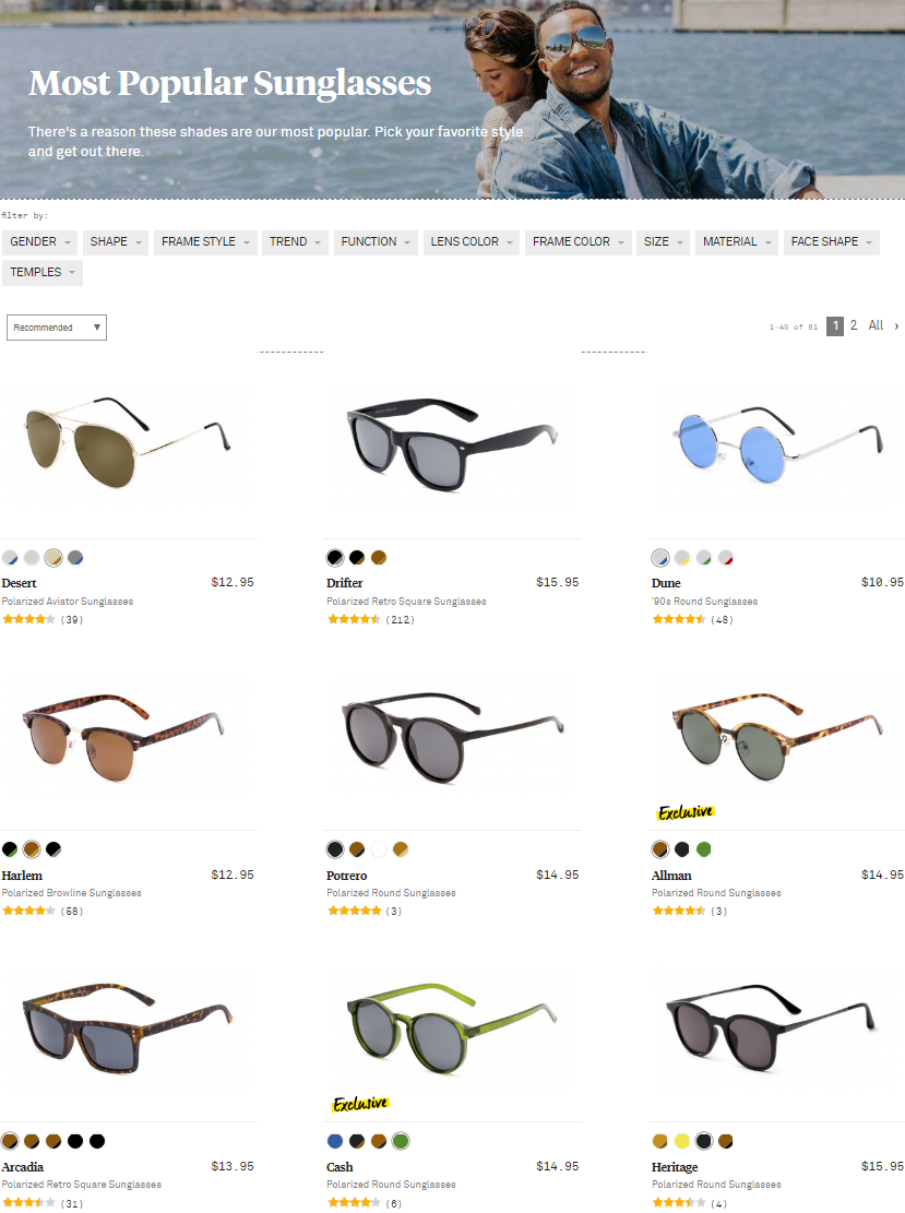 There's a reason these shades are the most popular. Pick your favorite style and get out there.