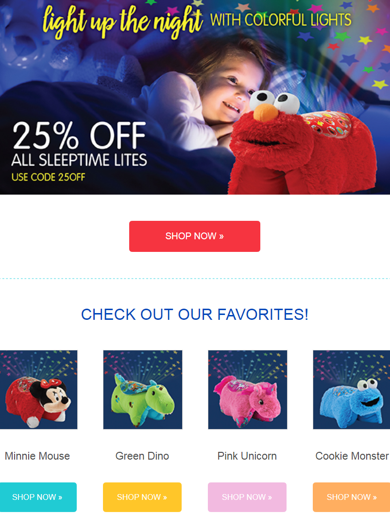 The brand-new Pillow Pets Sleeptime Lites are a night light and plush toy in one! Sleeptime Lites ac...