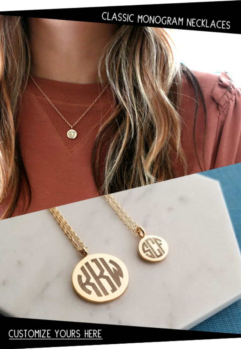 The classic monogram is first name, last name (centered), then middle name initial. Or, maybe you pr...