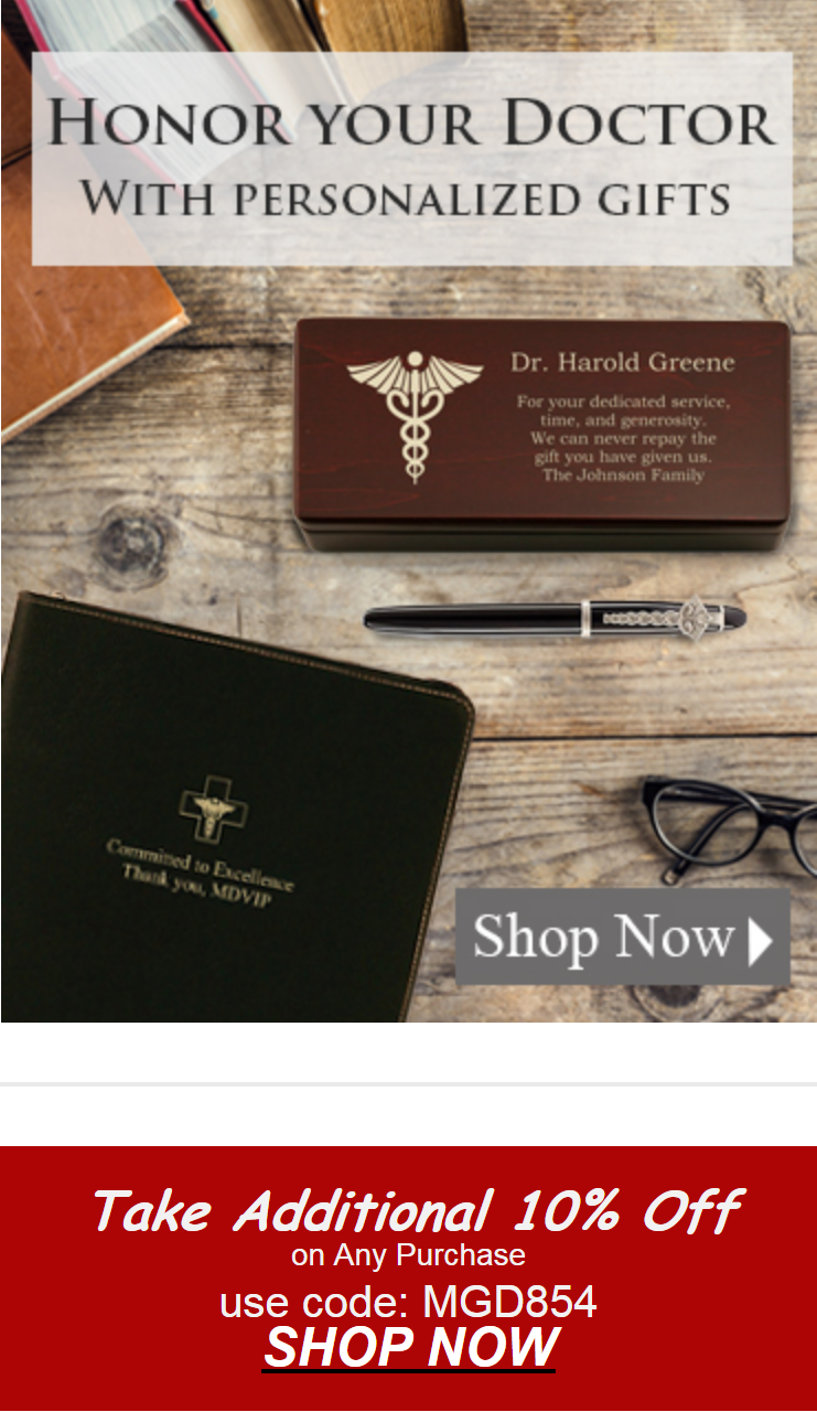 Give your favorite doctor or medical professional a gift accompanied with the personalized touch the...